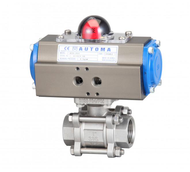 Screw 3pc Ball Valve ( Double Type)