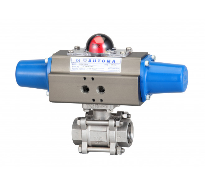 Screw 3pc Ball Valve ( Single Type)