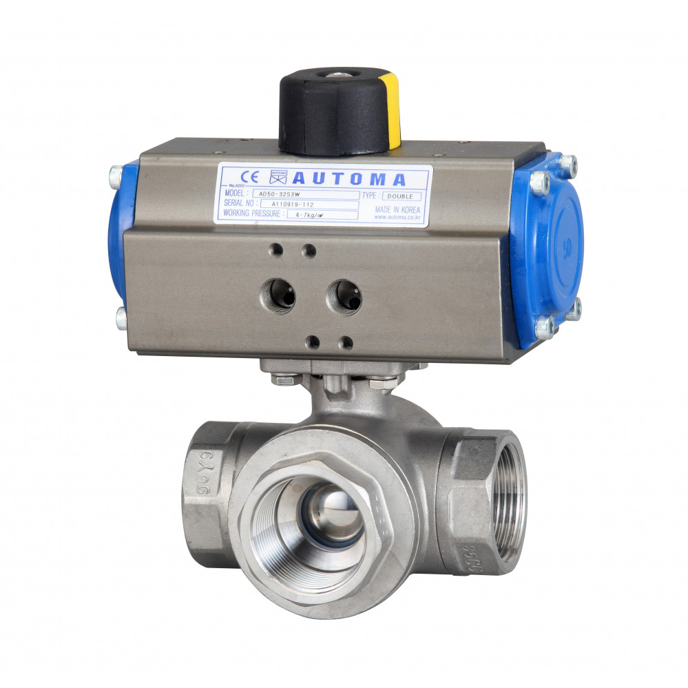 automa screw 3pc ball valve   single type