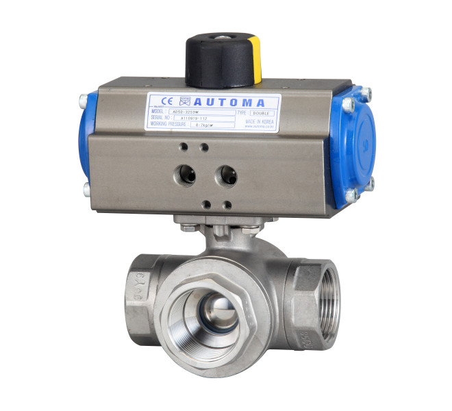 3 Way Screw Ball Valve