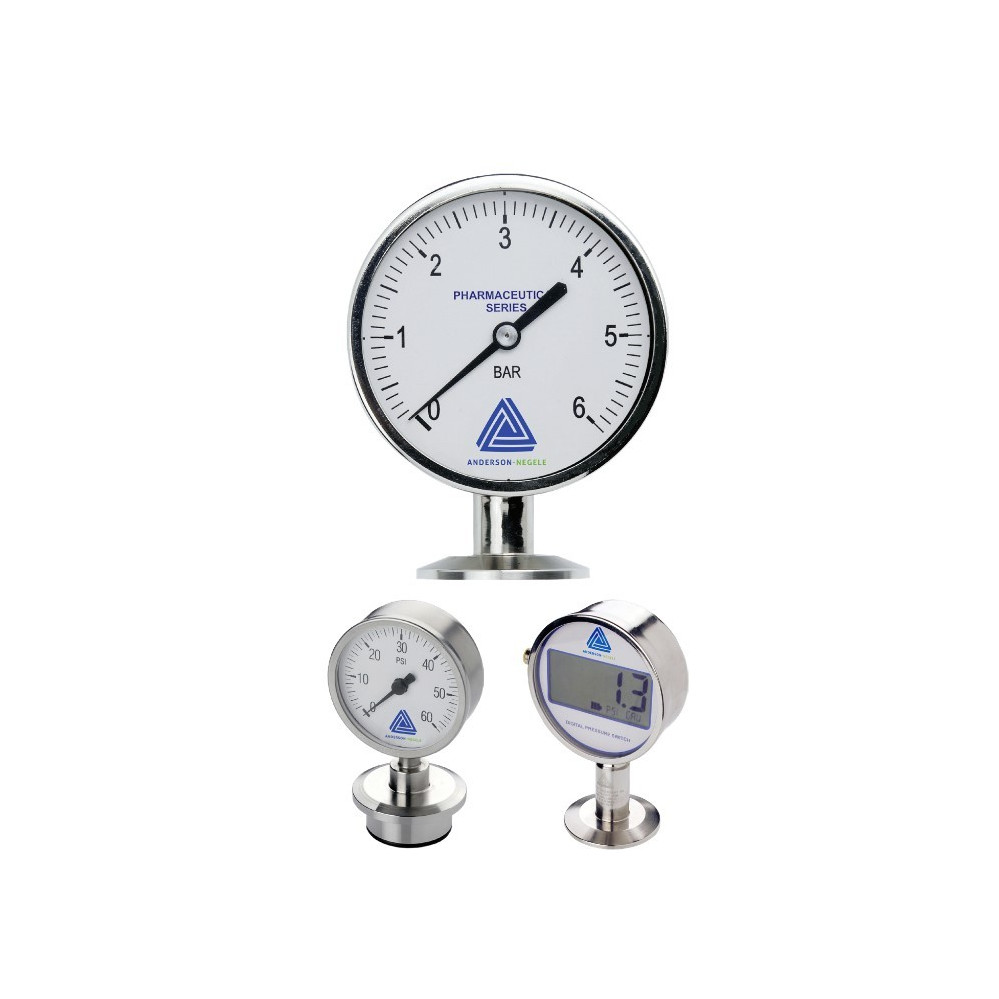 EM Life Sciences Series Pressure Gauge (90mm)